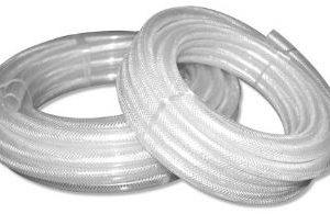30m 1/4'' Clear Braided PVC Hose-0