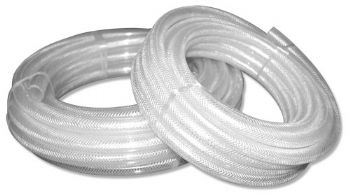 30m 3/8'' Clear Braided PVC Hose-0
