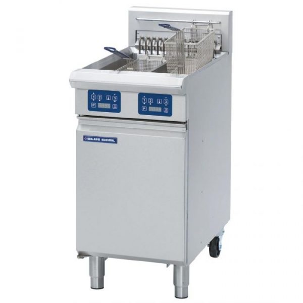 Blue Seal E44E Evolution Series Vee Ray Twin Pan Electric Fryer