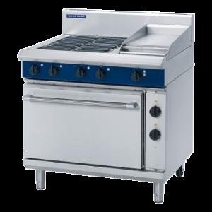 Blue Seal E506C Evolution Series Electric 4 Burner Range Static Oven 2/1 GN