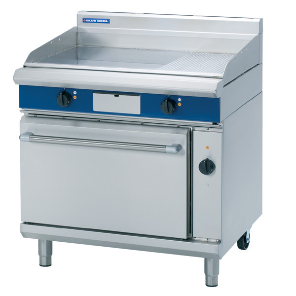 Blue Seal Evolution Series EP56 900mm electric griddle convection 2/1 GN