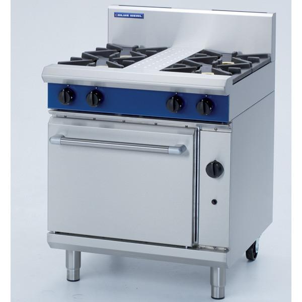 Blue Seal Evolution Series G505D 4 Burner Gas Range Static Oven 1/1 GN-0