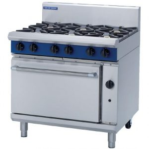 Blue Seal G506D Evolution Series 6 Burner Gas Range Static Oven 2/1 GN 51kw