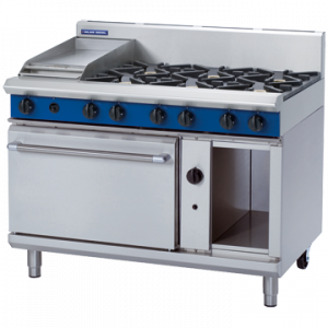 Blue Seal Evolution Series G508C 6 Burner Gas Range Static Oven 2/1 GN 57kw