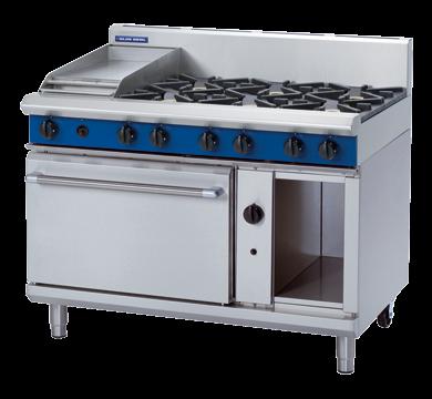 Blue Seal Evolution Series G508C 6 Burner Gas Range Static Oven 2/1 GN 57kw