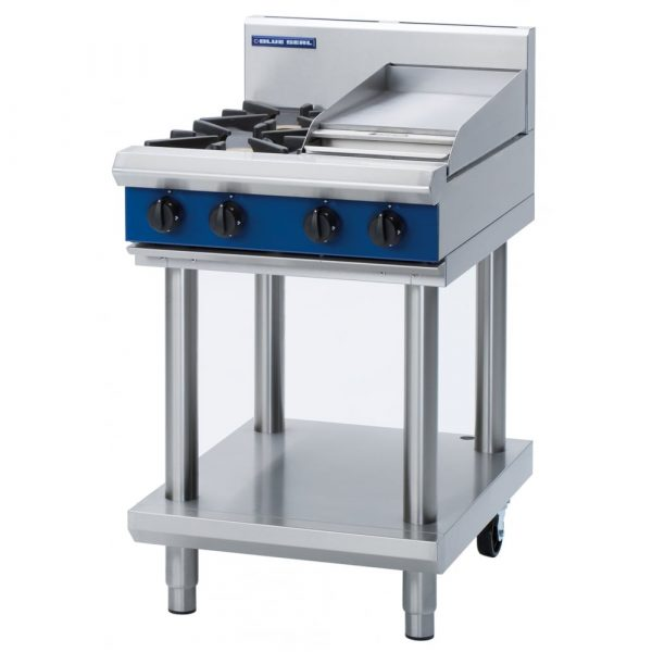 Blue Seal Evolution Series G514C-LS Gas Cooktop 20kw Leg Stand