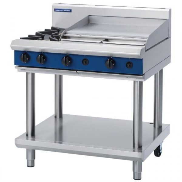 Blue Seal Evolution Series G516B-LS Gas Cooktop 26kw Leg Stand