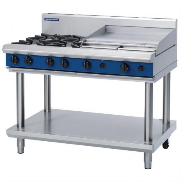 Blue Seal Evolution Series G518B-LS Gas Cooktop 40kw Leg Stand