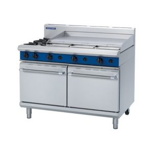 Blue Seal Evolution Series G528A 2 Burner Gas Range Double Static Oven 45.2kw