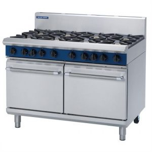 Blue Seal Evolution Series G528D 8 Burner Gas Range Double Static Oven