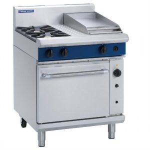 Blue Seal Evolution Series Gas G54C 2 Burner Range Convection Oven 1/1GN 29kw