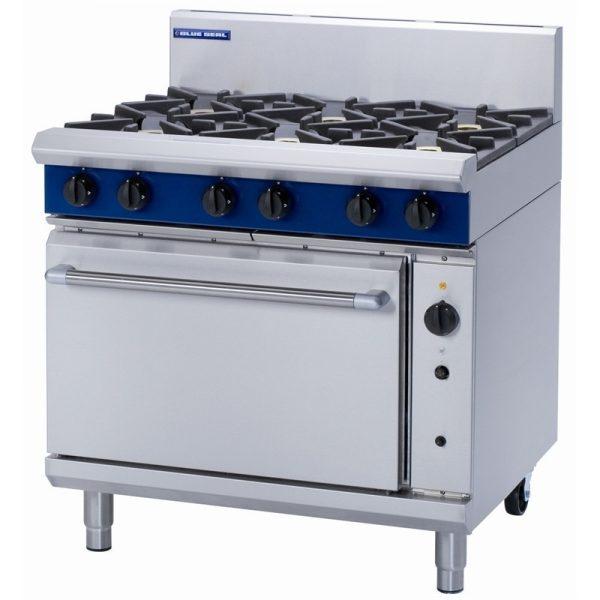Blue Seal Evolution Series G56D 6 Burner Gas Range Convection Oven 2/1 GN 51kw