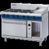 Blue Seal Evolution Series G58C 6 Burner Gas Range Convection Oven 2/1 GN 57kw