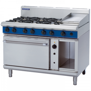 Blue Seal Evolution Series G58C 6 Burner Gas Range Convection Oven 2/1 GN 57kw