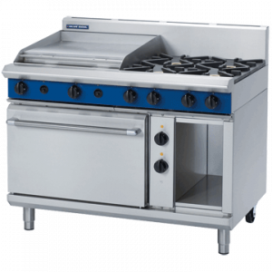 Blue Seal GE508B Evolution Series 4 Burner Gas Range 2/1 GN