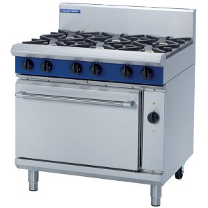 Blue Seal Evolution Series GE56D Gas Range Electric Convection Oven 2/1 GN 42kw