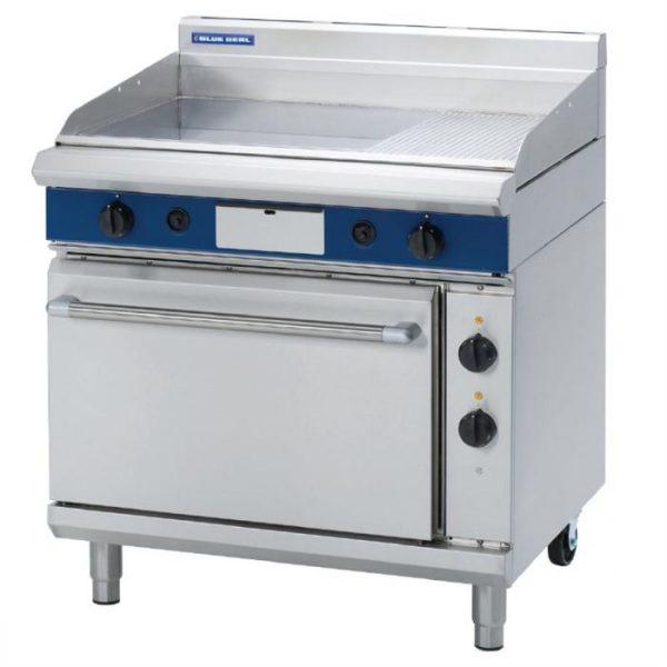 Blue Seal Evolution Series GPE506 Gas Griddle Electric Oven Range 2/1 GN