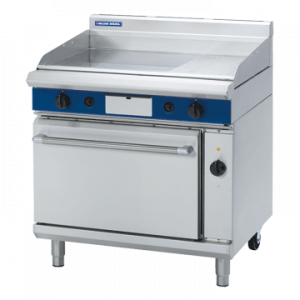 Blue Seal Evolution Series GPE56 Gas Griddle Electric Convection Oven Range 2/1 GN