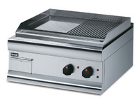 Lincat GS6/TR Silverlink 600 Half- Ribbed Griddle-0