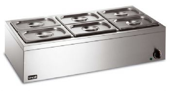 Lincat LBM3W Bain Marie (Electric) 6 x1/4GN (wet heat)-0