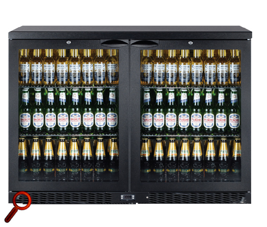 IMC Mistral M90 Glass Double Door Bottle Cooler