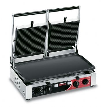 Sirman PD Double Flat / Ribbed Contact Grill-0