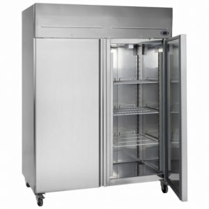 Tefcold RF1420 Upright Double Door Freezer (Stainless Steel)
