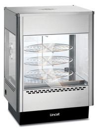 Lincat UM50D Seal Upright Heated Food Merchandiser with rotating rack-0