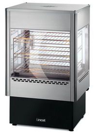 Lincat UMSO50 Upright Heated Food Merchandiser with Static Rack & Built in Oven-0