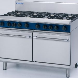 Blue Seal Evolution Series G528C 6 Burner Gas Range Double Static Oven