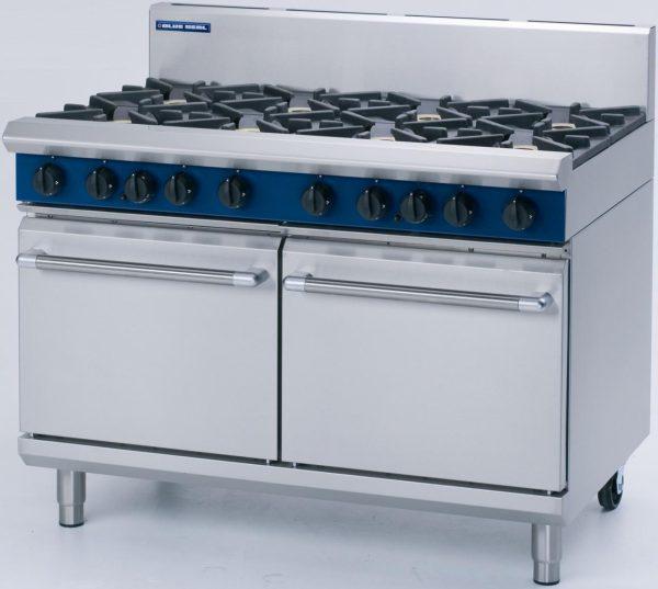 Blue Seal Evolution Series G528C 6 Burner Gas Range Double Static Oven