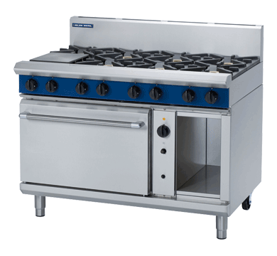 Blue Seal Evolution Series G58D 8 Burner Gas Range Convection Oven
