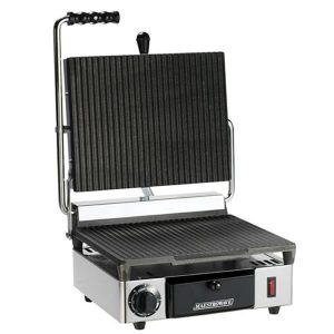Maestrowave MEMT16000X Single Ribbed Panini/Contact Grill