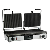 Maestrowave MEMT16050XNS Double Ribbed Panini/Contact Grill-0