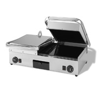 Maestrowave MEMT17061 Ceramic Double Ribbed Top/Flat Bottom Panini/Contact Grill-0