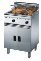 Lincat Silverlink 600 J10 Free Standing Twin Tank Fryer with 2 Baskets -Natural Gas-0