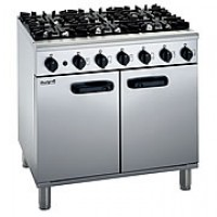 Lincat LMR9 Medium Duty 6 Burner Gas Oven Range-LPG Gas-0