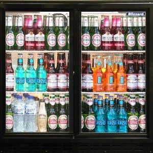 Blizzard BAR2 Hinged Double Door Back Bar Bottle Cooler