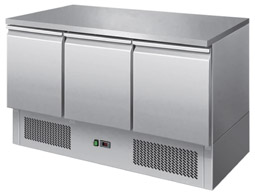 Interlevin ESL1365 3 Door Gastronorm Counter Fridge