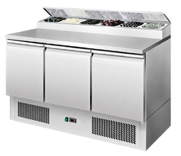 Interlevin ESS1365 3 Door Gastronorm Preperation Counter Fridge