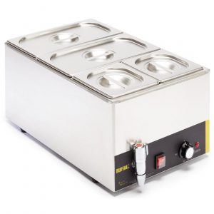 Buffalo S047 Bain Marie with Tap and Pans