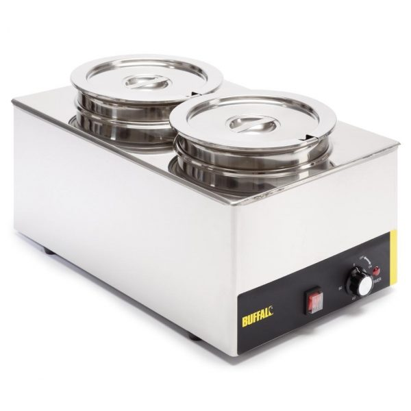 Buffalo S077 Bain Marie 2 Round Pots (Without Tap)