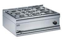 Lincat BM7CW Silverlink 600 Wet Heat Bain Marie Including 6 x 1/4 & 3 x 1/6 Gastronorm Dishes-0