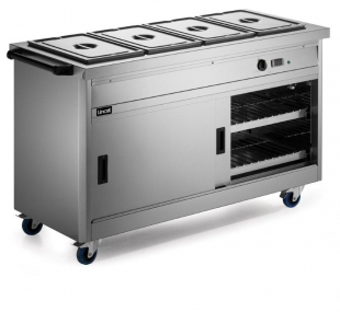 Lincat Panther P6B4 Hot Cupboard with Bain Marie Top