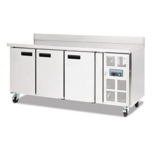 Polar DL915 Triple Door Counter Fridge with Upstand
