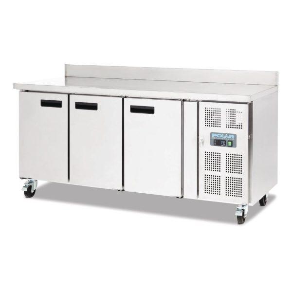 Polar DL915 Triple Door Counter Fridge with Upstand