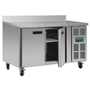 Polar DL916 Double Door Counter Freezer with Upstand