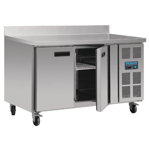 Polar DL916 Double Door Counter Freezer with Upstand