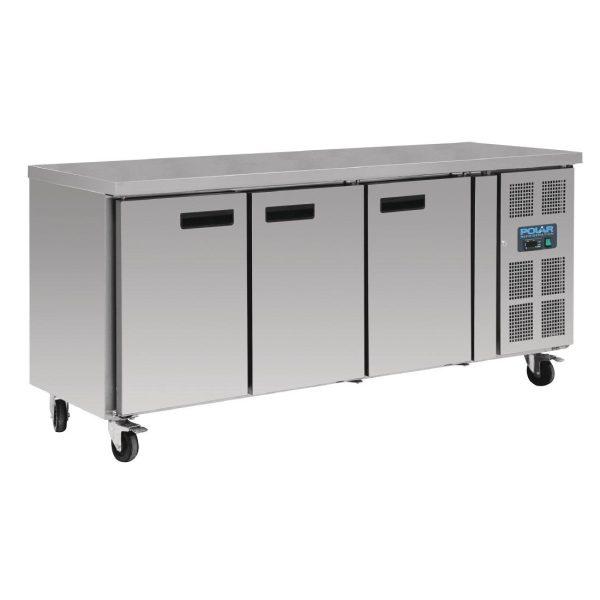 Polar DL917 Triple Door Counter Freezer with Upstand