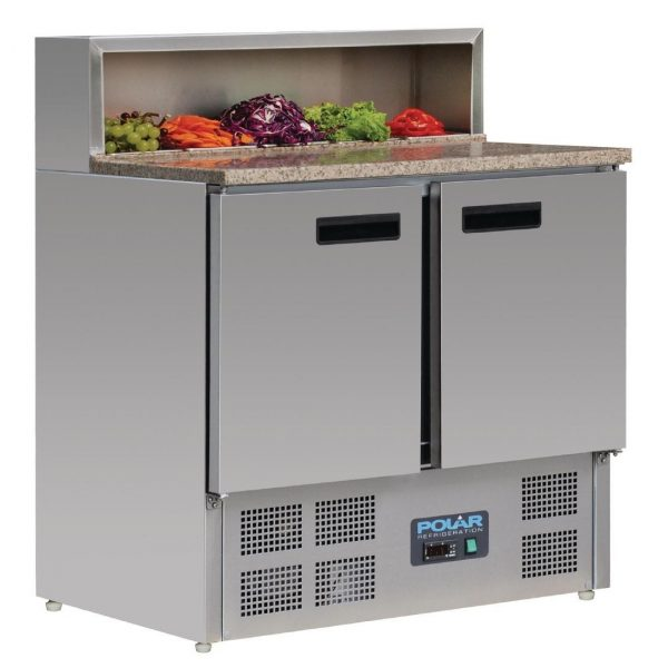 Polar G603 Pizza/Salad Preperation Counter Fridge with Marble Top